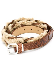 Creatures Of The Wind Braided Belt Brown