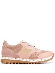 Twin Set Lace Panel Sneakers Pink