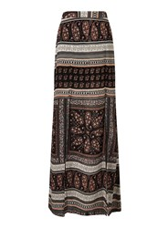 Miss Selfridge Printed Split Maxi Skirt Multi Coloured
