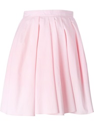 Carven Pleated Short Skirt Pink And Purple