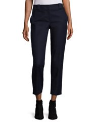 The Row Blake Stretch Cotton Ankle Pants Dark Navy