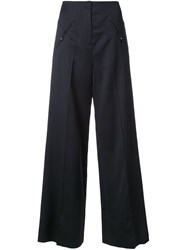 Esteban Cortazar Low Waist Straight Trousers Black