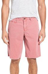 Original Paperbacks Men's 'St. Barts' Raw Edge Shorts Cranberry