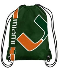 Forever Collectibles Miami Hurricanes Big Logo Drawstring Bag Red
