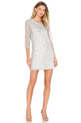 Parker Black Petra Embellished Dress Metallic Silver