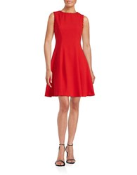 Gabby Skye Sleeveless Fit And Flare Dress Flame