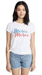 Chrldr Merci Tee White