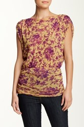 Sweet Pea Ruched Banded Hem Top Multi