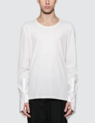 Alexander Mcqueen Hybrid L S T Shirt With Poplin Sleeves
