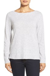 Nordstrom Women's Collection Boatneck Cashmere Sweater Grey Clay Heather