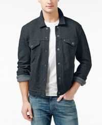 Levi's French Terry Trucker Jacket Blue Heather