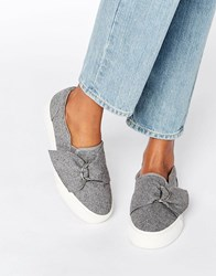 Asos Digger D Ring Trainers Grey Wool