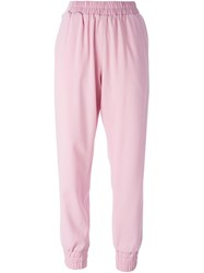 Mother Of Pearl Elasticated Waistband And Cuffs Trousers Pink And Purple