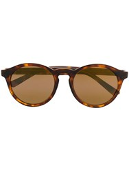 Maui Jim Round Frame Sunglasses Brown