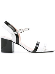 Pollini Varnish Sandals White