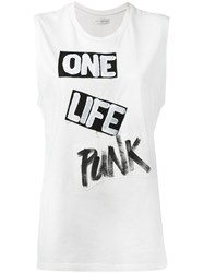 Faith Connexion One Life Punk Tank Women Cotton M White