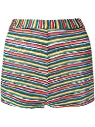 Missoni Woven Striped Shorts White