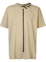 Craig Green Laced Short Sleeve T Shirt Nude Neutrals