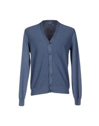 Hackett Knitwear Cardigans Men Slate Blue