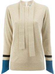 Undercover Thumb Hole Detail Sweater Wool Nude Neutrals