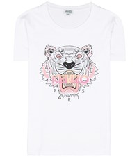 Kenzo Printed Cotton T Shirt White