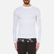 Mcq By Alexander Mcqueen Men's Recycled Paisley Long Sleeved T Shirt Optic White