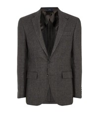 Polo Ralph Lauren Houndstooth Linen Blazer Male Grey