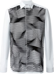 Neil Barrett Zig Zag Applique Shirt White