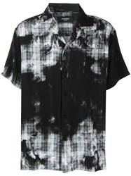 Represent Faded Check Short Sleeve Shirt Black