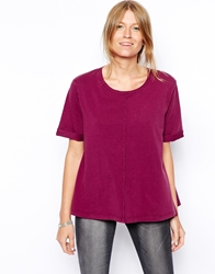 Asos Swing T Shirt In Acid Wash Purple