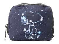 Le Sport Sac Square Cosmetic Snoopy Stars Small Cosmetic Case Blue
