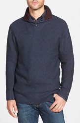 Rodd Gunn Rodd And Gunn 'Huntington' Shawl Collar Wool Sweater Navy
