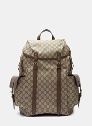 Gucci Zaino Neo Vintage Gg Print Backpack Brown