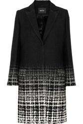 Raoul Jacquard Coat Black