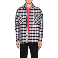 Off White C O Virgil Abloh Checked Cotton Blend Flannel Shirt