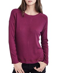 Velvet By Graham And Spencer Scoopneck Long Sleeve Pullover Purple