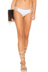 Bettinis Strappy Cheeky Bikini Bottom White