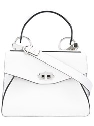 Proenza Schouler Satchel Bag Women Leather Suede One Size White