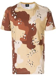 Christopher Raeburn Jersey Choc Chip Print T Shirt Brown