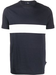 Fay Short Sleeve Two Tone T Shirt 60