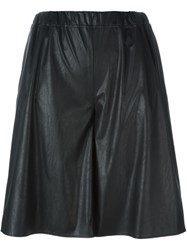 Maison Martin Margiela Mm6 Maison Margiela Wide Leg Knee Shorts Black