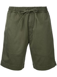 Ymc 'Jay' Drawstring Shorts Men Cotton Spandex Elastane S Green