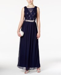 Amy Byer Bcx Juniors' Sequin Lace Illusion Gown A Macy's Exclusive