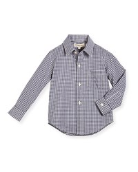 Appaman Long Sleeve Cotton Gingham Shirt Blue