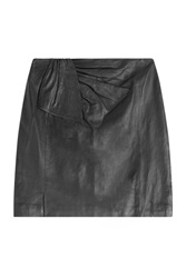 Steffen Schraut Campus Leather Skirt Black
