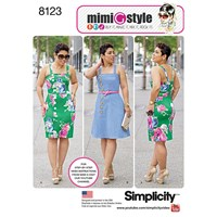 Simplicity Women's Plus Size Dress Sewing Pattern 8123