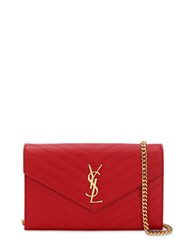 Saint Laurent Medium Quilted Monogram Bag Bandana Red