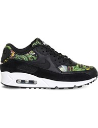 Nike Air Max 90 Leather Floral Print Trainers Black Prism Pink