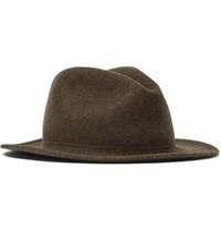 Lock And Co Hatters Rambler Rollable Wool Felt Trilby Brown