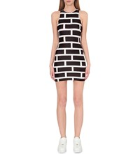 Planet Vandy Bubble Wall Jersey Dress Black White